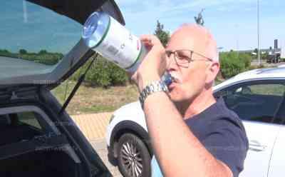 (Hitzewelle, stark) Hitzewelle spitzt sich zu: Erste Autobahnen akut von Blow-up gefährdet, Voxpops Autofahrer zur Hitze, A 38 zwischen bei Merseburg betroffen, Geschwindigkeitsreduzierung als erste Maßnahme: Unternehmen entschärfen blow-up gefährdete A 38, Verkehr wird auf Standspur an Baustelle vorbei geleitet
