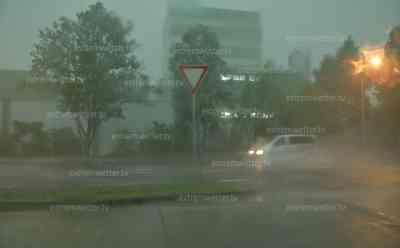 Superzelle und heftige Unwetter in Sachsen, orkanartige Böen in Freiberg: heftiger Downburst in Freiberg, Zeitrafferaufzug der Unwetter