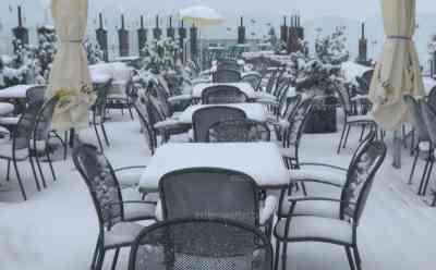 Wintereinbruch in den Alpen, bis zu 50 cm Neuschnee erwartet: über 5 cm Neuschnee am Dienstag, keine Spur von Herbstwetter